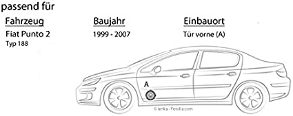 Lautsprecher Boxen Kenwood Kfc S1756 16cm Koax Auto Einbauzubehör Einbauset Für Fiat Punto 2 188 Front Just Sound Best Choice For Caraudio Navigation