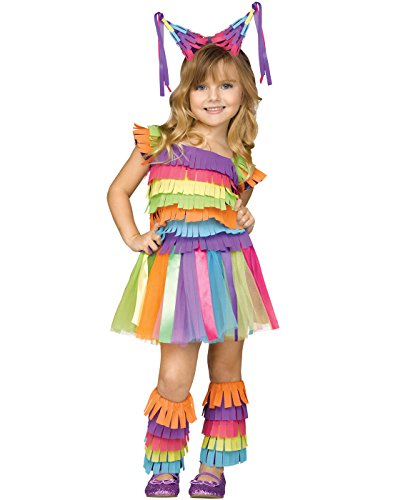 Fun World Girls Party Toddler Viva Pinata Halloween Costume, Multi, Small -