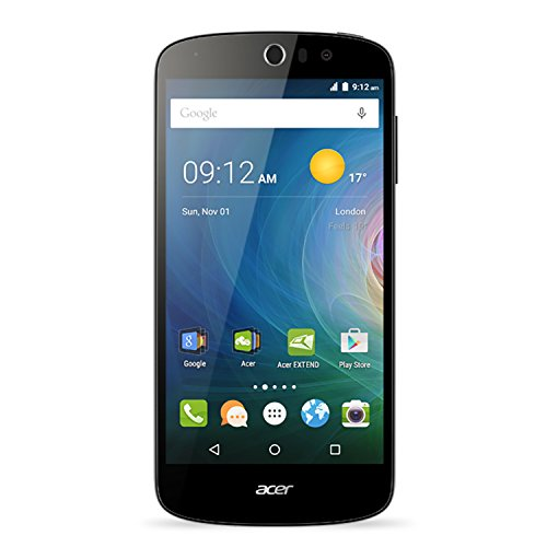Acer Jade Liquid Z530 Unlockes GSM 4G LTE Quad-Core Android Phone w/8MP Camera - Black (Certified Refurbished)