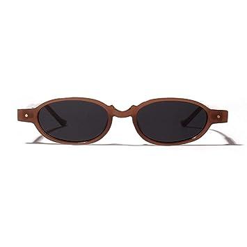 QDE Gafas de sol Gafas De Sol Ovaladas De Las Mujeres del ...