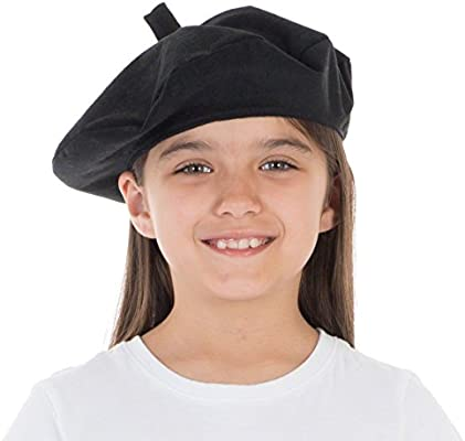 19d99b5dd23 Charlie Crow Black Beret costume accessory for kids. One size 3-12 ...