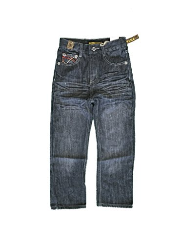 Chams Boy's Straight Fit Mercerized Baked Denim Jeans Size:7