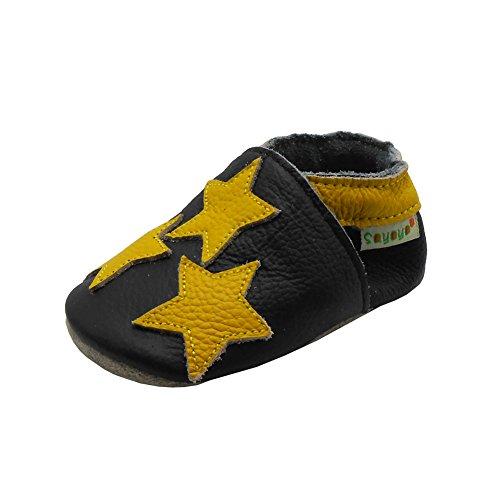 Sayoyo Sterne Lauflernschuhe Baby Leder Weiche Sohle Kugelsicherer Krippe Enfants Schuhe