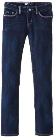 Levi's Big Girls' Taryn Thick Stitch Skinny Jean, Vivid Blue, 7