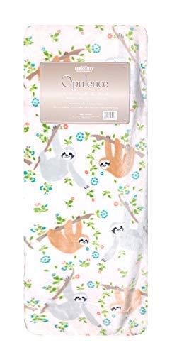"Opulence Lazy Hanging Sloths Supreme Premium Loft Throw Blanket, 55"" x 70"""