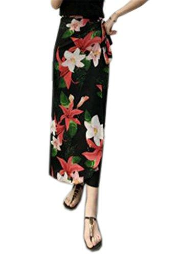 Vintage Jupe Longue Jupe en Tendance Fit Plage Mi Red3 Lacets Jupe Taille Haute De t Jupe Mousseline Femme Slim ElGant Jupe Aoliait Jupe qxR46It6