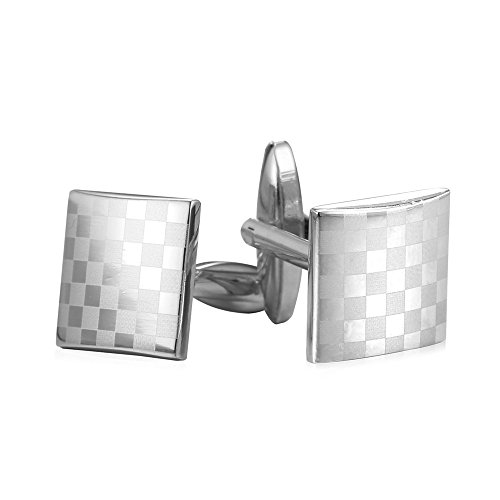 Men Accessories Platinum Plated Cufflinks 2 Pieces