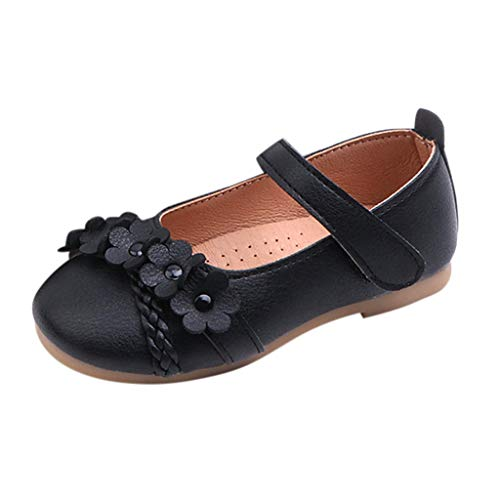 (Tantisy ♣↭♣ Baby Shoes Girls Englad Kids Flower Woven Floral Single Shoes Princess Shoes Soft Shoes Outdoor Sandals)