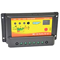 HQRP Solar 10A Charge Power Controller / Regulator 12V / 24V 10 Amp with LED Indicator plus HQRP UV Meter