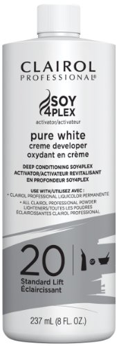 Clairol Professional Soy4plex Pure White Creme Hair Color Developer, 20 (White Creme)