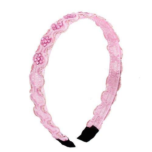eDealMax Rose ple Cadre en Plastique Strass Inlay Bandeau Hoop cheveux Pour les Filles
