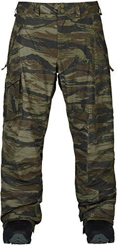 Cargo Snowboard Pants Olive - Burton Men's Covert Pant, Olive Green Worn Tiger, Medium