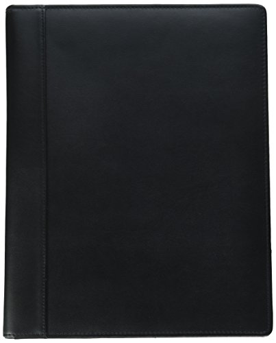 Leather Folio Genuine - Buxton Men's Leather Writing Pad, Black One Size