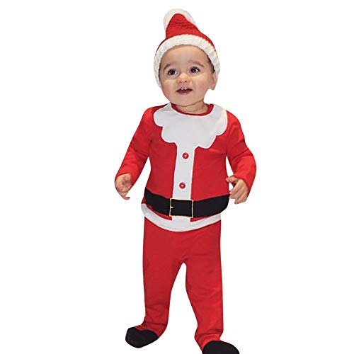 Seaintheson 2018 Baby Christmas Party Outfits Set Costume Toddler Kids Boys Girls Xmas Santa My First Christmas Clothes