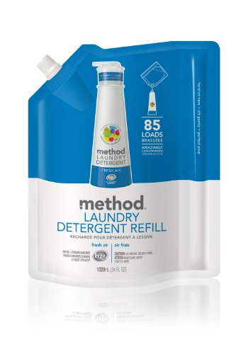 Method Laundry Detergent with Smartclean Tech, 85 Loads, Refill, Fresh Air, 34 Ounce, Health Care Stuffs