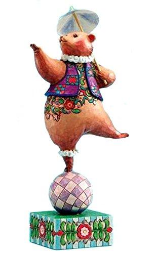 Enesco Heartwood Creek By Jim Shore *Bear, Ball, Parasol* Bear on Ball Figurine (Shore Bears)