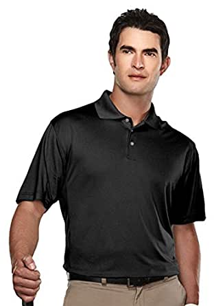 Tri-mountain Mens Poly UltraCool pique golf shirt. 158TM - BLACK_S