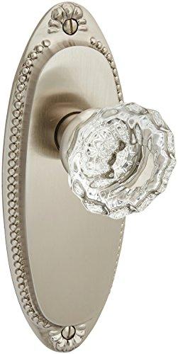 Crystal Astoria Clear (Lydian Door Set With Astoria Crystal Knobs Privacy Satin Nickel. Doorsets.)
