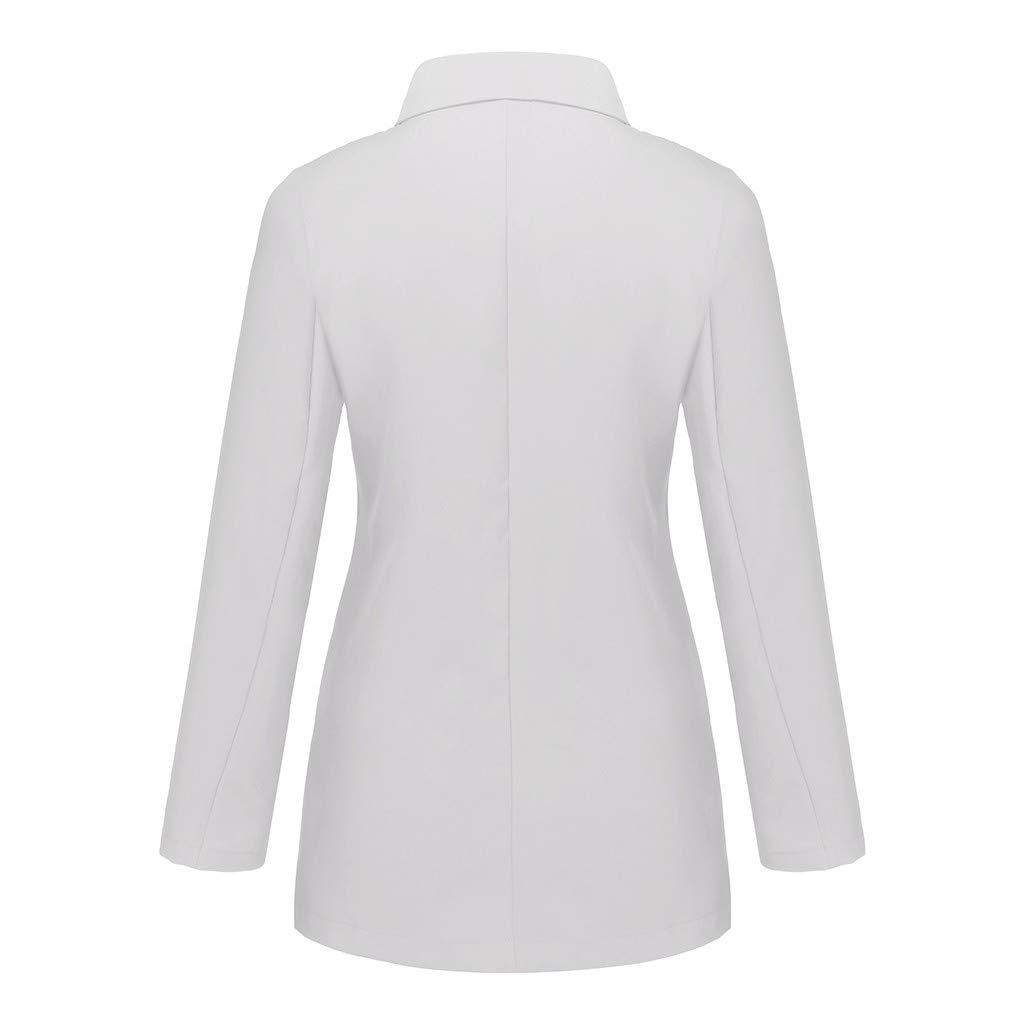 Alangbudu Women Casual Turn Down Collar Blazer One Button Cardigan Office Coat Tops Long Sleeve Jacket Wild Outwear
