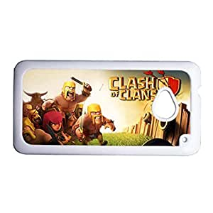 Generic Cute Back Phone Cover For Boy Print With Clash Of Clans For Htc One M7 Choose Design 3