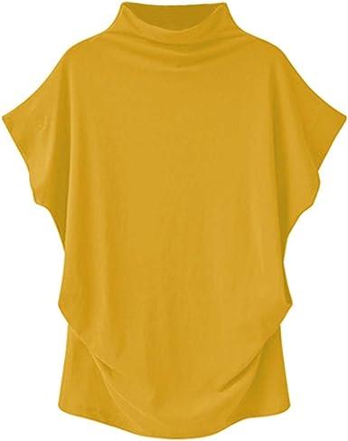 Camisetas Basicas Mujer Tallas Grandes Manga Corta SóLidos Blusas para Mujer Verano Elegantes Mujer Camisetas de Manga Corta Tops de Algodón Suave para Verano Blusa Sólido: Amazon.es: Ropa y accesorios