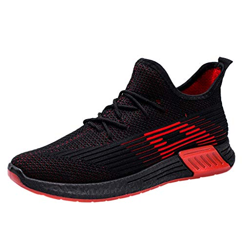 Caopixx Shoes for Men Hiking Shoes Outdoor Traveling Breathable Walking Outdoor Sneakers Red -