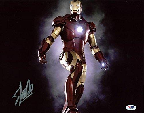 Stan Lee Iron Man Signed Authentic 11X14 Photo Marvel Comics Autographed PSA/DNA