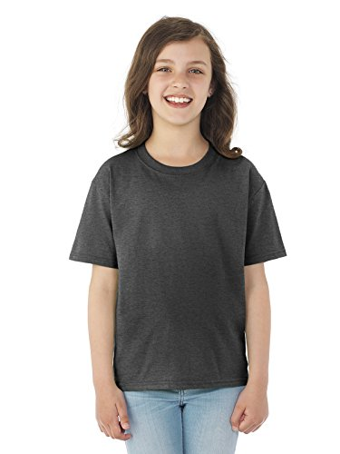Fruit of the Loom Youth 5 oz. HD CottonTM T-Shirt BLACK HEATHER XS