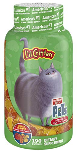 L'il Critters Complete Multivitamins for Kids, Daily Gummy Vitamins, Secret Life of Pets, 190 Count