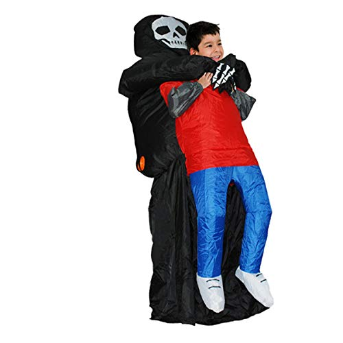 Fancy Child Inflatable Dinosaur Grim Reaper Unicorn Cowboy Halloween Cosplay Fantasy Costume Black -