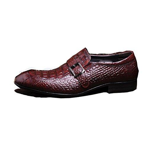 Scarpe di Basse Coccodrillo Modello Piedi Appuntito Set di Scarpe Britanniche Scarpe Uomo Tendenza Brown Pelle Resistente all'Usura Scarpe in Coreane di NIUMJ Scarpe da Tq6wU6
