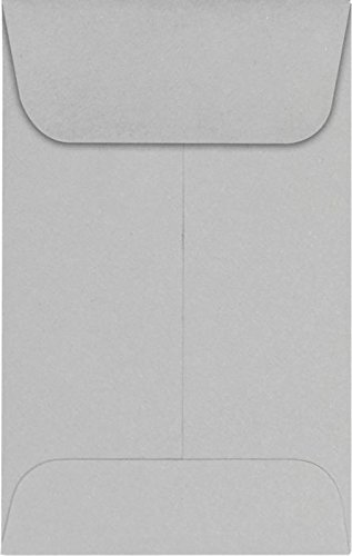 #1 Coin Envelopes (2 1/4 x 3 1/2) – 28lb. Gray Kraft (1000 Qty.) | Perfect for the HOLIDAYS, Weddings, Parties & Place Cards | Fits Small Parts, Stamps, Jewelry, Seeds | 1COGK-1M