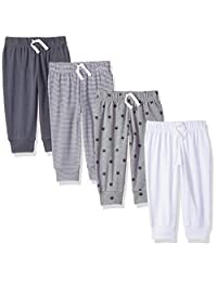 Amazon Essentials baby-boys Baby Boys 4-pack Pull-on Pant