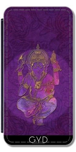Leder Flip Case Tasche Hülle für Apple Iphone 7 Plus / 8 Plus - Ganesha Geistig Gott Hinduistisch by Andrea Haase