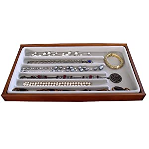 Jewelry Tray Display Organizer Stack 'em 6 compartment Necklace and Bracelet Jewelry box Axis 2722