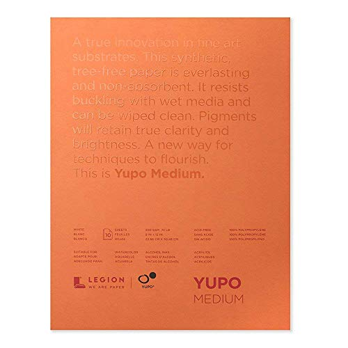 Legion Glossy Paper - Yupo Paper L21-YUP197W912 White Sheets (10 Pack), 9