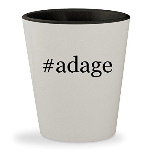 Adage Tickets (#adage - Hashtag White Outer & Black Inner Ceramic 1.5oz Shot Glass)