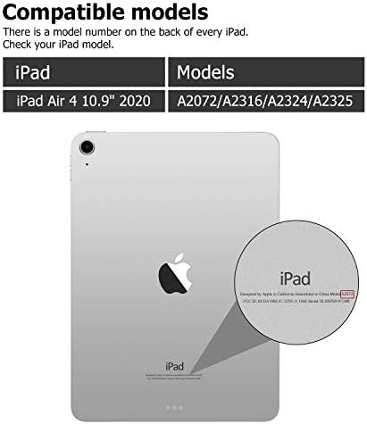 GOOJODOQ Coque Clavier pour iPad Air 4 2020 10.9 Etui Housse en TPU Souple avec Porte Crayon, Clavier Bluetooth sans Fil Détachable Magnétiquement