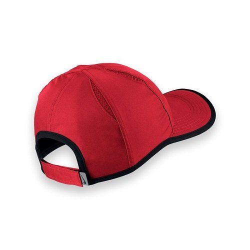 Galleon - Nike Unisex Featherlight Cap University Red Black University  Red White Hat One Size e45ffe77f92a