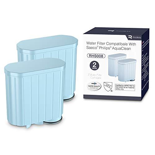Rhodesy Waterfiltervervanging voor Philips-koffiemachine met actieve koolontharder, Zero Limescale Alkaline Waterfilter…