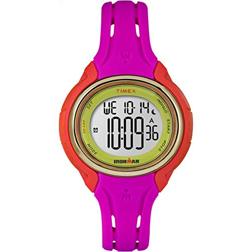 Timex Women's TW5M02800 Ironman Sleek 50 Pink Color Block Silicone Strap Watch