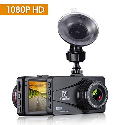 Dash Cam 1080P HD 3'' Car Dvr Dashboard Camera with G-Sensor, Wide Angle, Motion Detection Loop Recording Car Recorder On-Dash Video Night Vision Car Camera(AN-YR180912)