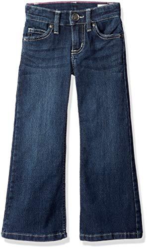 (Wrangler Girls' Western Boot Cut Jean, Dark Wash, 10 REG)