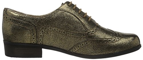 Clarks Damen Hamble Oak Derby Gelb (Gold Metallic Leather)