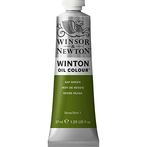 Winsor & Newton Winton Oil Colour Paint, 37ml tube, Sap Green