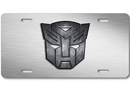 Aluminum Transformer - Voss Collectables Transformers Autobot Stone Logo Aluminum Car Truck License Plate Tag Steel