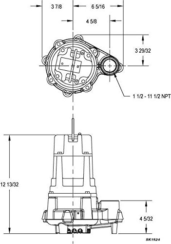 Zoeller BN140 Flow Mate 115 Volt Cast Nonauto Submersible Pump wVariable Level Float Switch