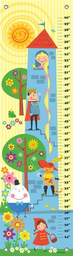 (Oopsy Daisy Growth Chart, Fairytale Stack, 12