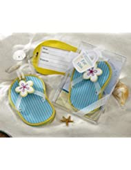 Flip-Flop Luggage Tag in Beach-Themed Gift Box - Set of 25