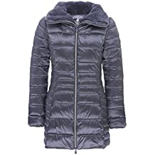 Save The Duck Womens Long Nylon Coat With Fake Fur